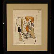 Louis Jordan Abstract Cubist Portrait