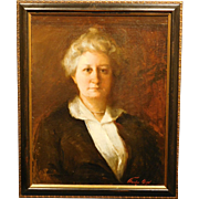 Boston School Portrait of a Woman with Pearls