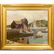 Rockport Motif #1 Oil Painting by Laurence B. Wright