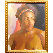 Oil Portrait Study of a Black Woman by Katya Held