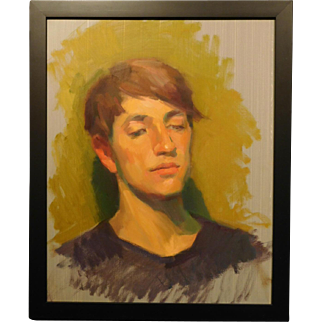 Portrait Study of a Young Man, Oil Painting by Katya Held
