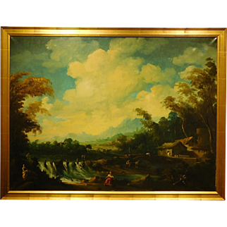 Large Continental Landscape w/Waterfall