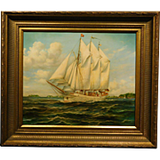 Portrait of the Yacht Anny, oil painting by Martz
