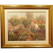 Maxwell Parsons: My Garden, Impressionist oil painting