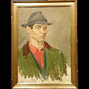 Dubina Nikolay Alekseevich: Portrait of a Man in Green Jacket