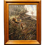 Forest Landscape With Moose