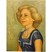 Burnam Pearlman: Portrait of a Blonde Woman