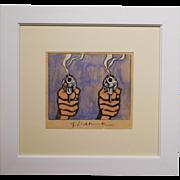 After Roy Lichtenstein: Two Smoking Pistols