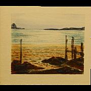 Howard John Besnia: Sea Coast, Watercolor