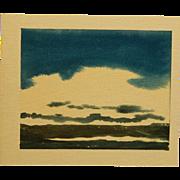 Howard John Besnia: Sea and Sky, Watercolor
