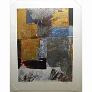 Abstract Contemporary Serigraph By William Janosco