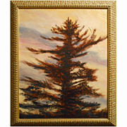 Contemporary Tonalist Tree Oil Painting By Bruce Wood