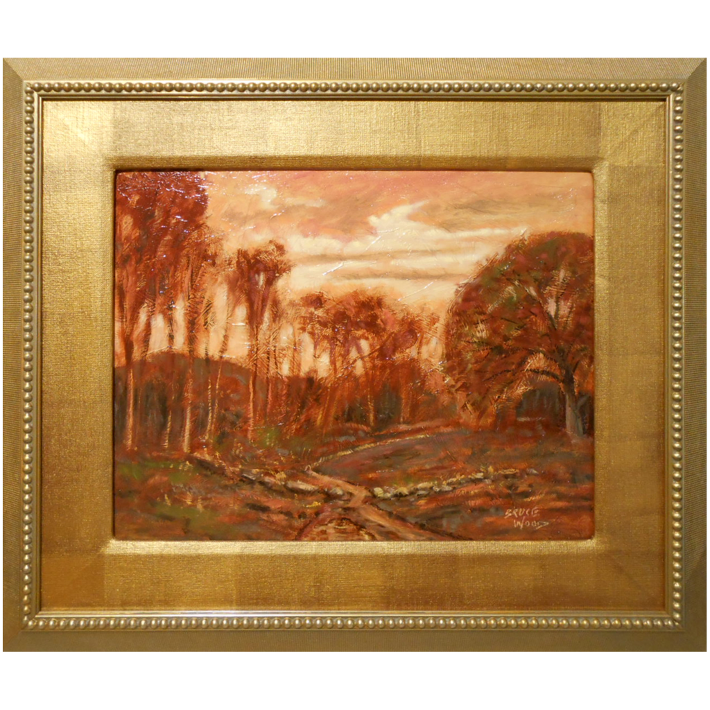 Contemporary tonalist oil painting by bruce wood from for Mural art on wood