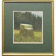 Plein Air Maine Realism Oil On Paper #2
