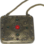 Vintage Jeweled Compact Dance Purse