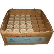 24 Vintage Shenango Inca Ware Individual Restaurant Creamers in the Original Commercial Store Box
