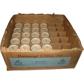 24 Vintage Shenango Inca Ware Individual Restaurant Creamers in the Original Commercial Store Box