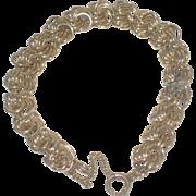 """Vintage 1/20 12K Gold Filled Multi Links 7 1/4"""" Charm Bracelet"""