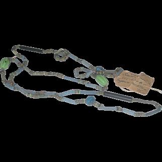 Ancient Egyptian Faience Bead Necklace circa 900-600 BC