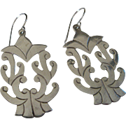 Gorgeous Vintage Mexico Sterling Silver Earrings