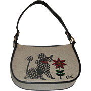 Vintage Enid Collins Fifi Poodle Dog Handbag Purse