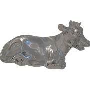 """Crystal Paperweight Figurine """"Chloe"""" the Cow by Princess House made in Germany"""