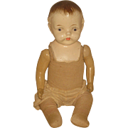 """Sweet Vintage Composition 18"""" Baby doll with painted features"""