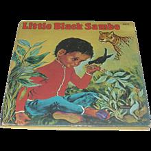 Vintage Whitman Little Black Sambo Children's Book by Violet LaMont Illustrated - Red Tag Sale Item
