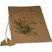 "Vintage Book ""Welcome to Bergan"" Sweden, Swedish Dated 1910 Illustrated Beautiful Flowers"