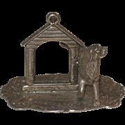 Vintage Silverplate Figural Dog Setter Picture frame Miniature