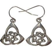 Vintage Sterling Silver Celtic Knot Earrings