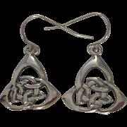Vintage Sterling Silver Celtic Knot Earrings