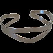 Vintage Sterling Silver Modernist Cuff Bracelet