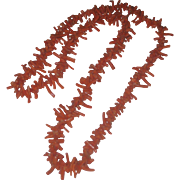 Gorgeous Vintage Salmon Coral Branch Necklace
