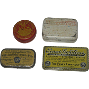 Set of Vintage Apothecary Medicine Medical Advertising Tins