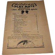 1935 Vintage-Children's Play Mate Magazine Little Black Sambo Paper-Dolls