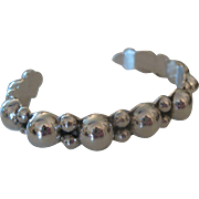 Exceptional Vintage Taxco Circle Balls Sterling Silver 925 signed Cuff Bracelet