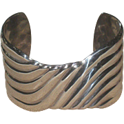 Exceptional Signed Alicia Sterling 950 Silver Taxco Vintage Cuff Bracelet
