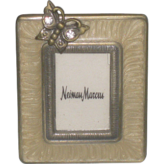 Miniature Enamel Jay Strongwater Jeweled Butterfly Picture Frame Neiman Marcus