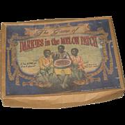 Vintage Board Game Black Americana Darkies in the Melon Patch 1932