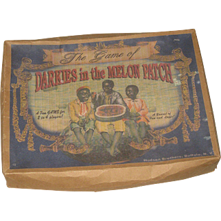 Vintage Board Game Black Americana Darkies in the Melon Patch 1932