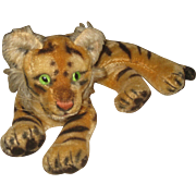 Vintage Steiff  Laying Tiger Stuffed Toy
