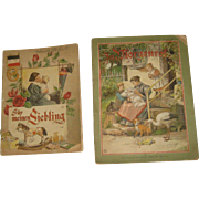 2 Child's Vintage German Story Book Books Ernst Kaufmann New York, Illustrated