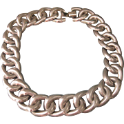 Huge Sterling Silver Chunky Link Taxco Statement Necklace