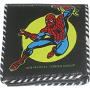 Vintage 1978 Spiderman Child's Wallet Marvel with original paperwork