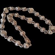 """Vintage Sterling Silver Taxco Modernist Necklace 24.5"""""""