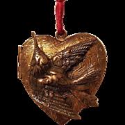 Large Vintage Aesthetic Hummingbird Heart Photo Locket Pendant Necklace