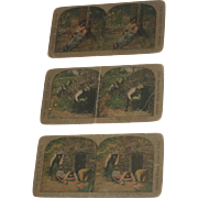 3 Antique Black Americana Stereoview Cards World Wide Series