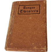 Vintage Miniature Book Tongue Twisters