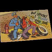 Curt Teich Funny Vintage Postcard 1944 Police Officer San Antonio Texas